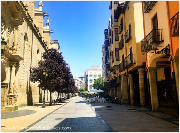 Wandered the streets of Logroño a bit.