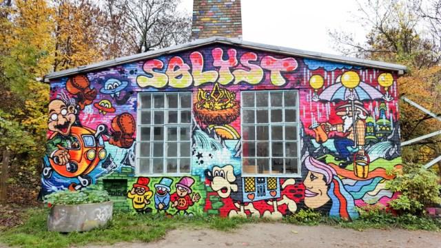 Houses in Christiania Copenhagen