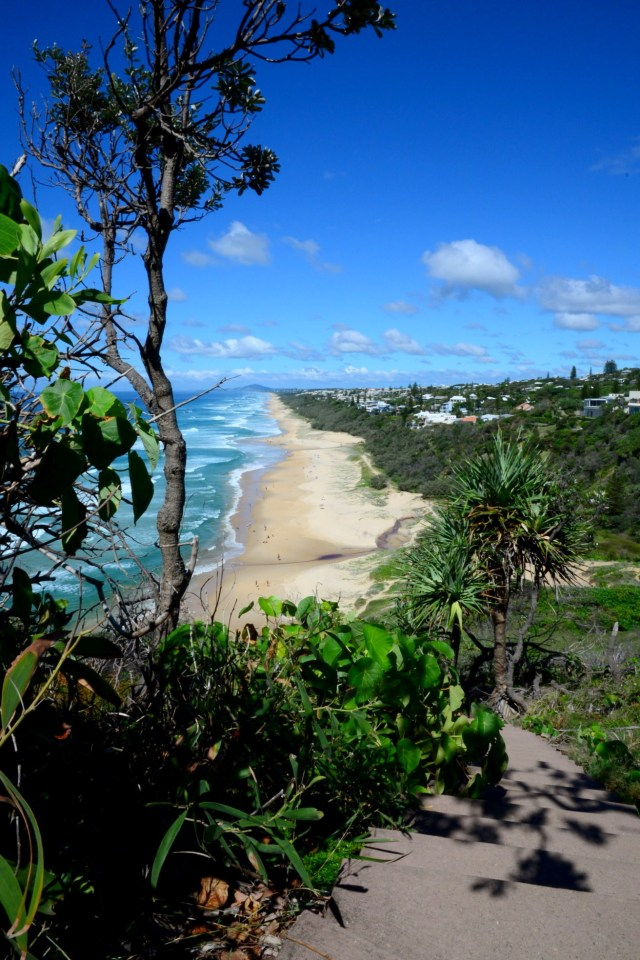 Looking over Sunshine Beach