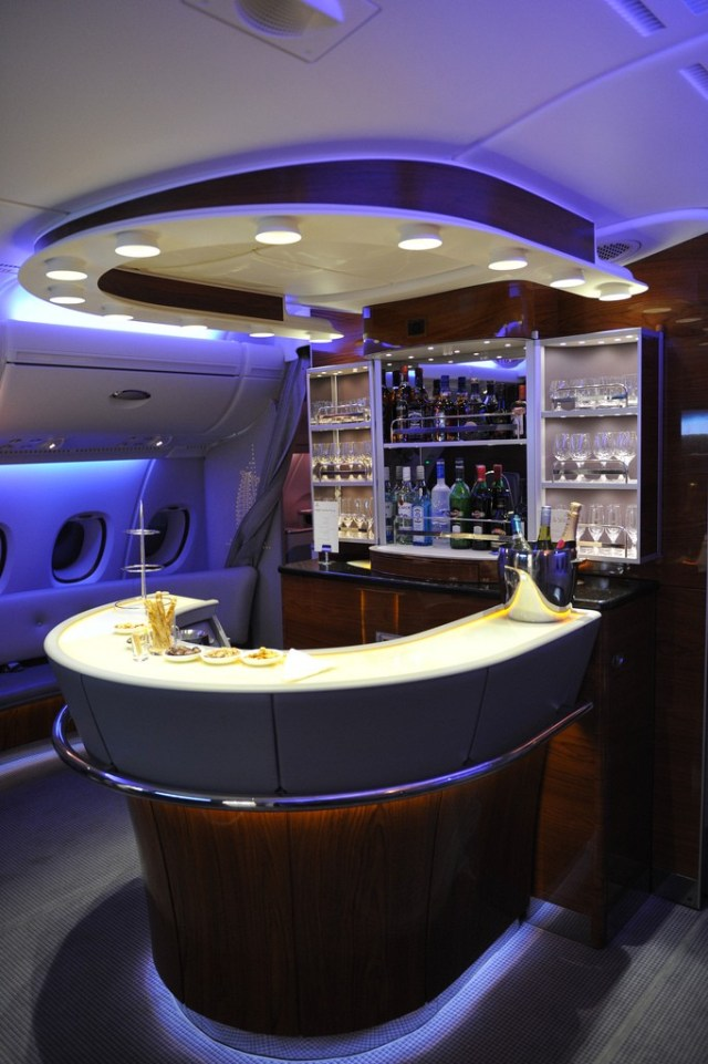 Bar on the A380