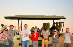 Sundowners in Botswana
