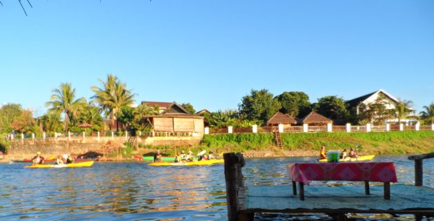 motorboats, Nam Song river, Vang Vieng, Laos