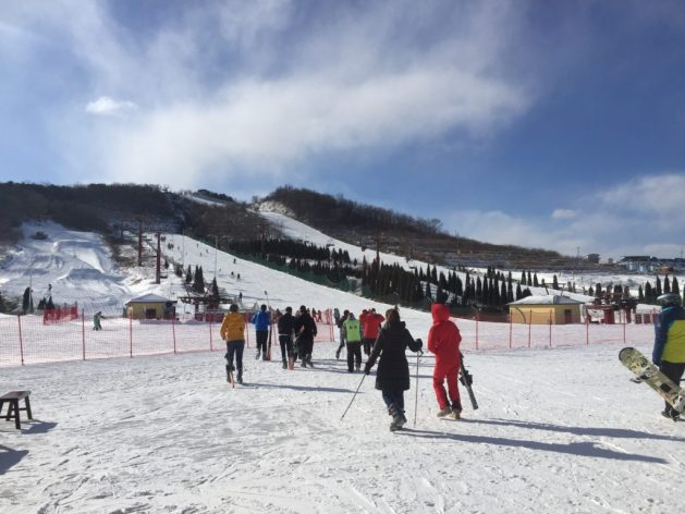 Skiing and snowboarding in Dalian