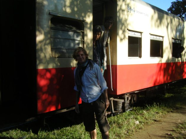 Train travel in Myanmar