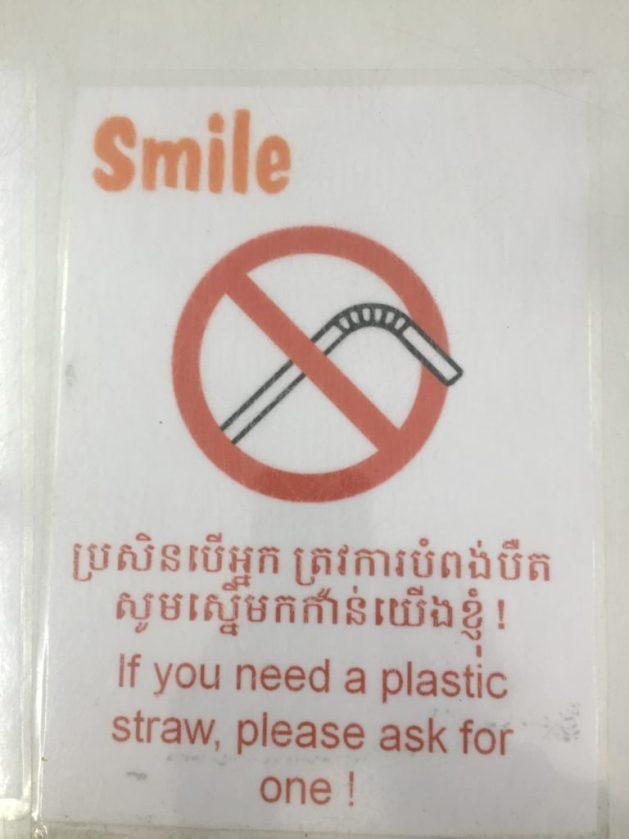 Phnom Penh shop, straws and plastic bags