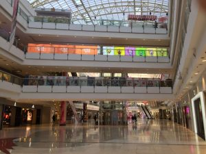 Roosevelt Shopping Mall, Dalian, empty on a Saturday