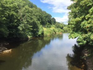 The river Wye at Redbrook