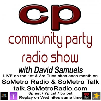 Community Party Radio Hosted by David Samuels with Mary Sanders Show 45 April 18 – Trumps foreign policy & Hartford stadium issue
