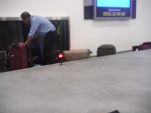 Luggage got stuck and caused a commotion