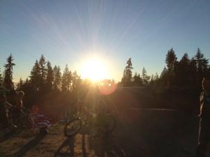 Sunset coastal gravity bikepark