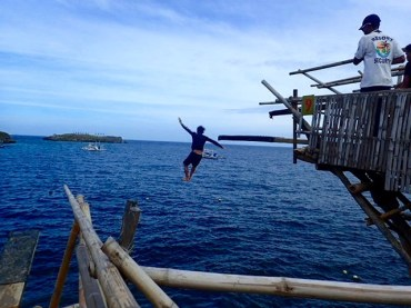 Jumping off the 10 meter!