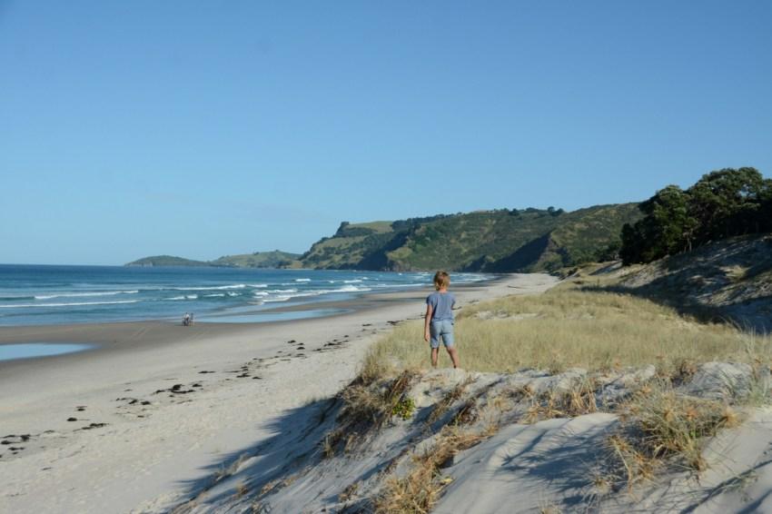 exploring at Pakiri Beach