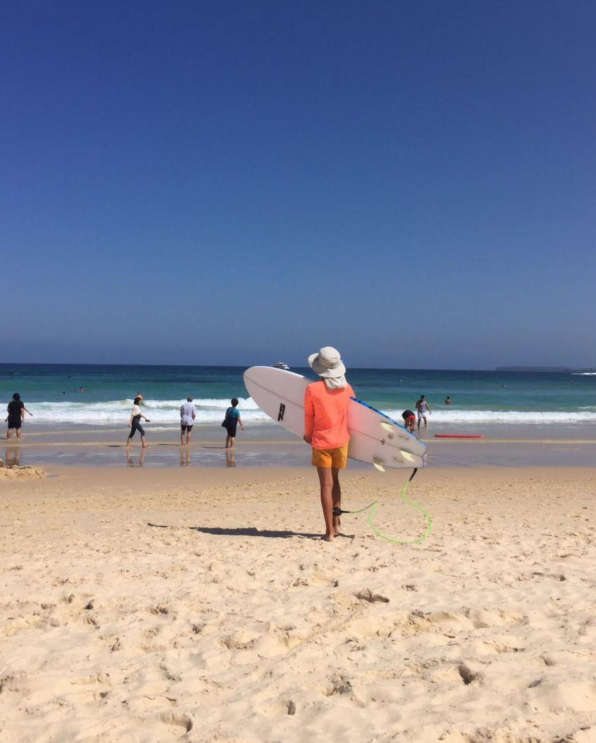 easton surfing on bondi