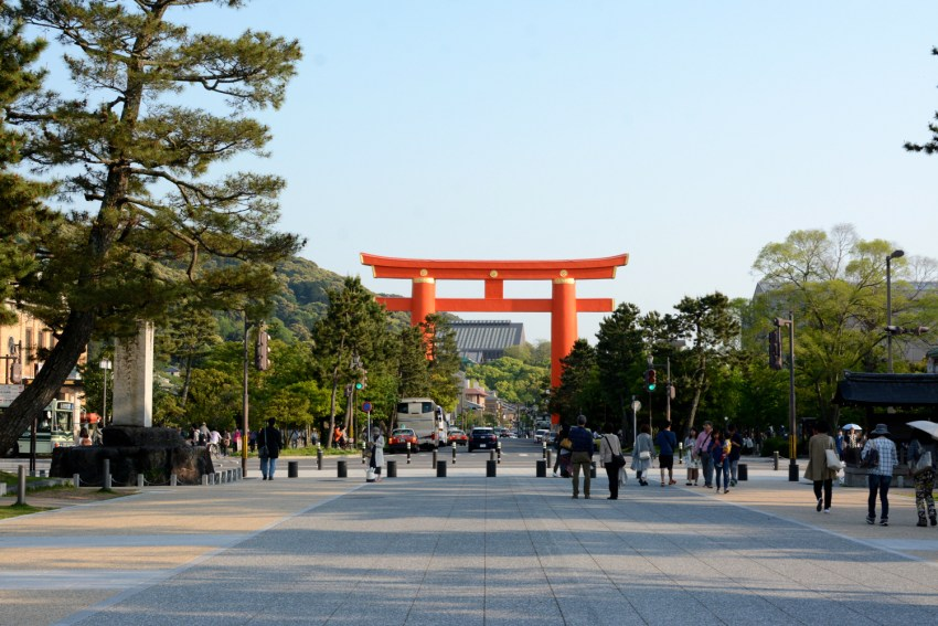 giant torre gates in Kyoto