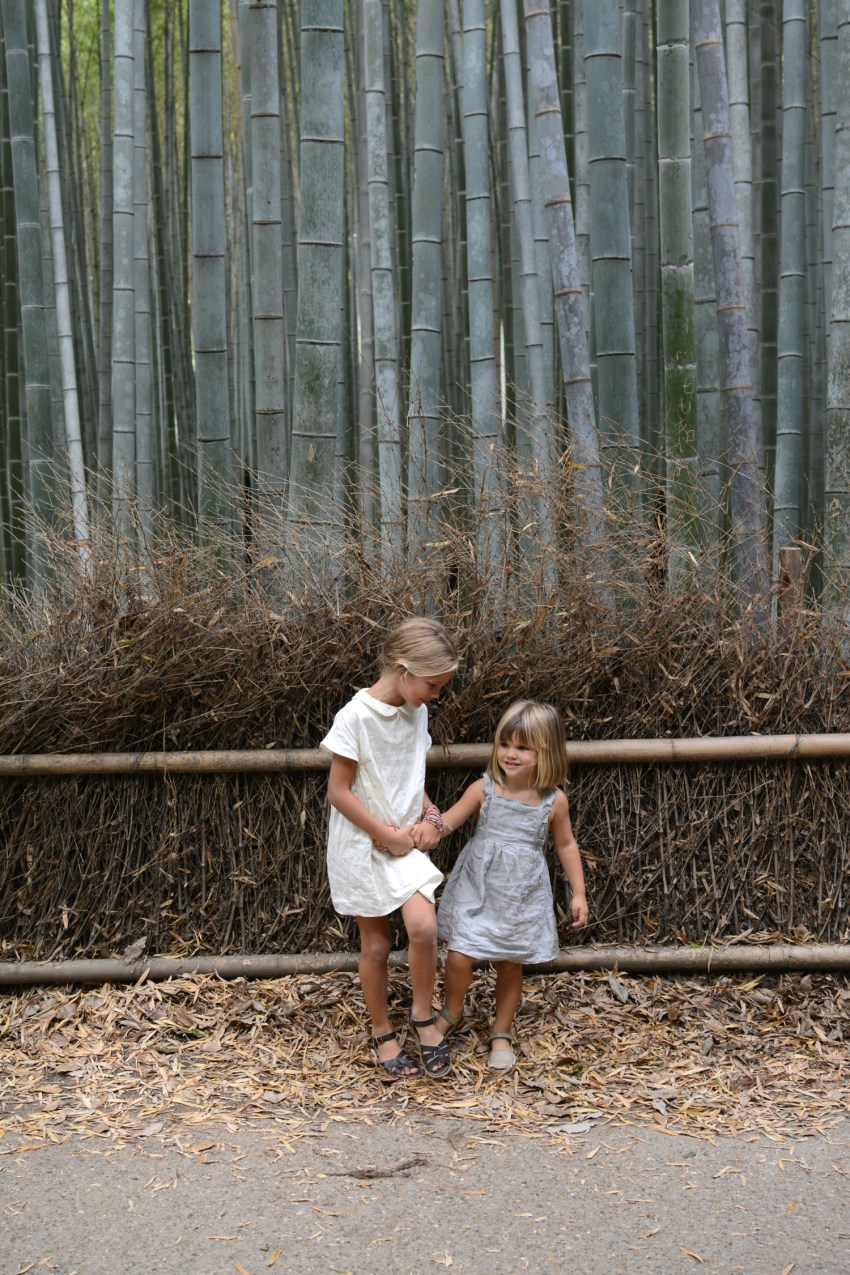 girls in bamboo forest Kyoto