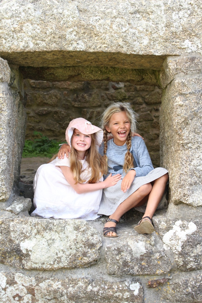 Ivy and Sophie in Zennor