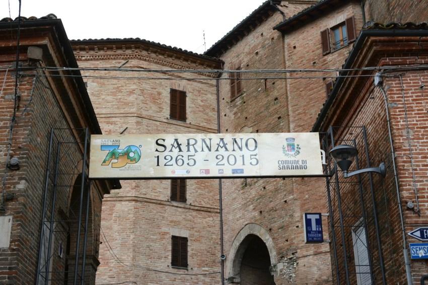 Sarnano town sign
