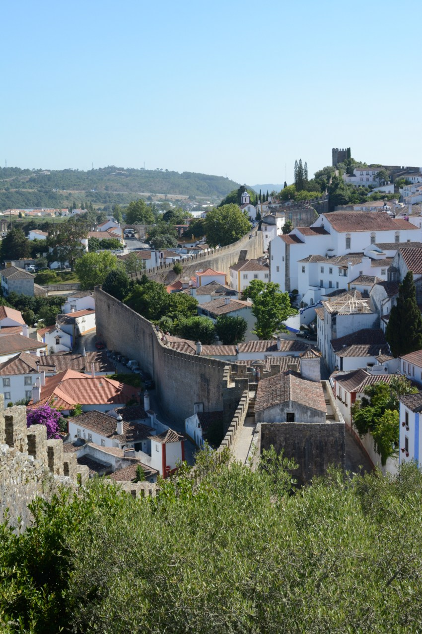 castle walls in Obidos