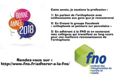 Bonne année 2018 avec la FNO