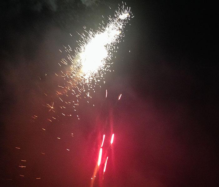 Happy new year vuurwerk