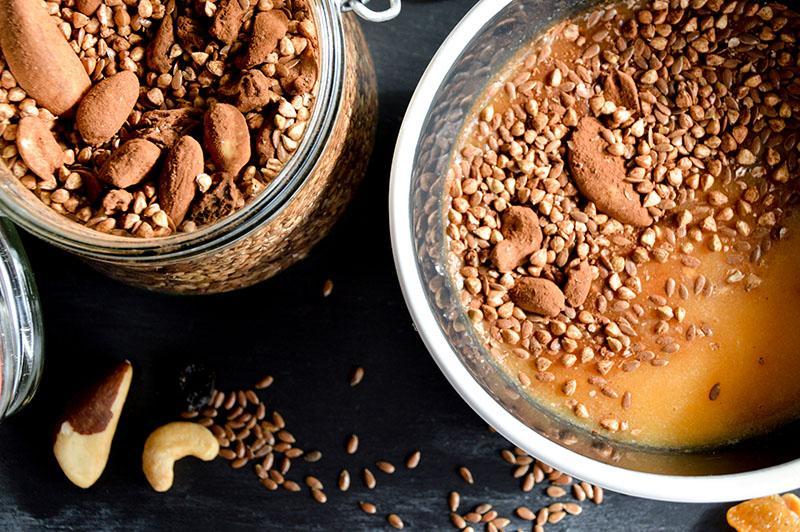 Glutenvrije muesli met boekweit en cacao