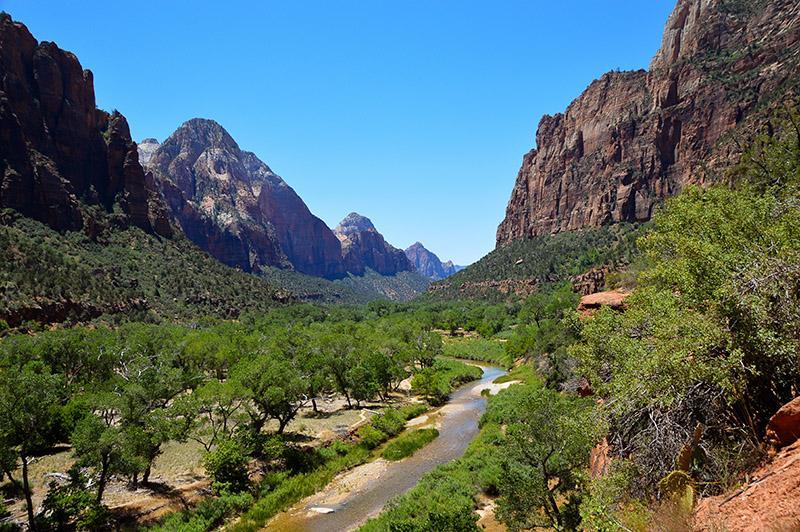 Zion national park uitzicht