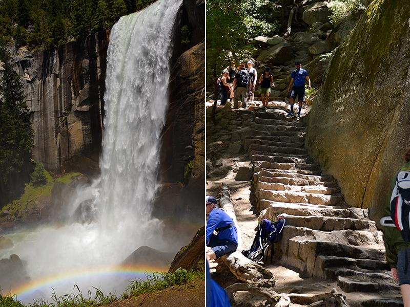 Yosemite National Park Mist Trail Vernal fall