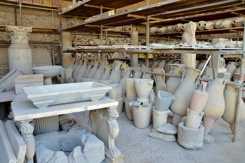 Bezoek aan Pompeï - voorwerpen