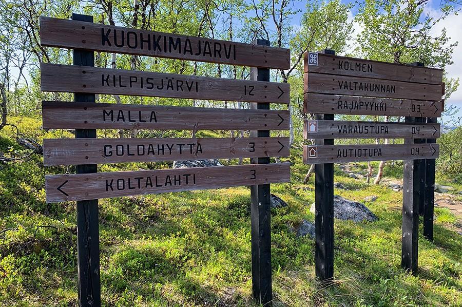 Route Malla Strict Nature Reserve - Treriksröset - sommarmorgon.com