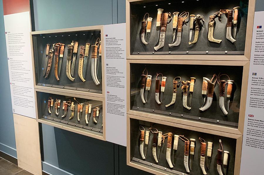 Verzameling sami messen in het Ájtte museum