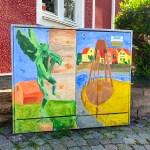 Elektriciteitskastjes als kunstproject- ontdek de kleurrijke street art in Simrishamn