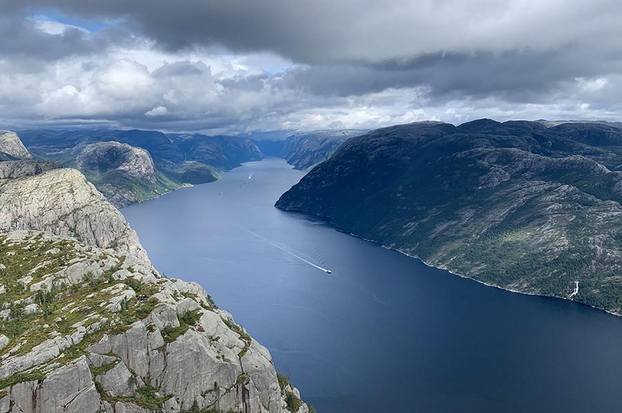 Uitzicht over het Lysefjord