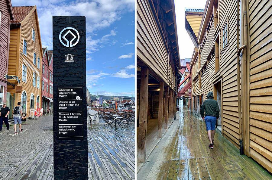 Bryggen in Bergen - sommarmorgon.com