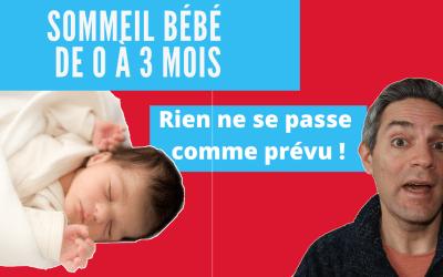 Sommeil bébé de 0 à 3 mois : 5 faits surprenants
