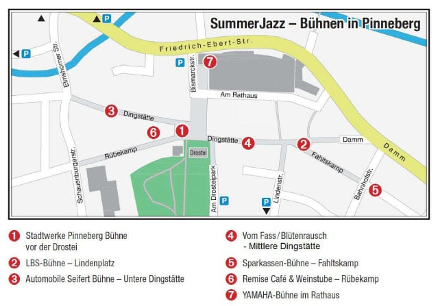 Bühnenplan SummerJazz Pinneberg 2014