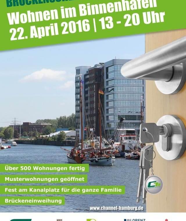 Brückenschlag-Fest im Binnenhafen Hamburg Plakat