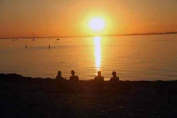 Sundown an der Ostsee - Freizeit in Sommer