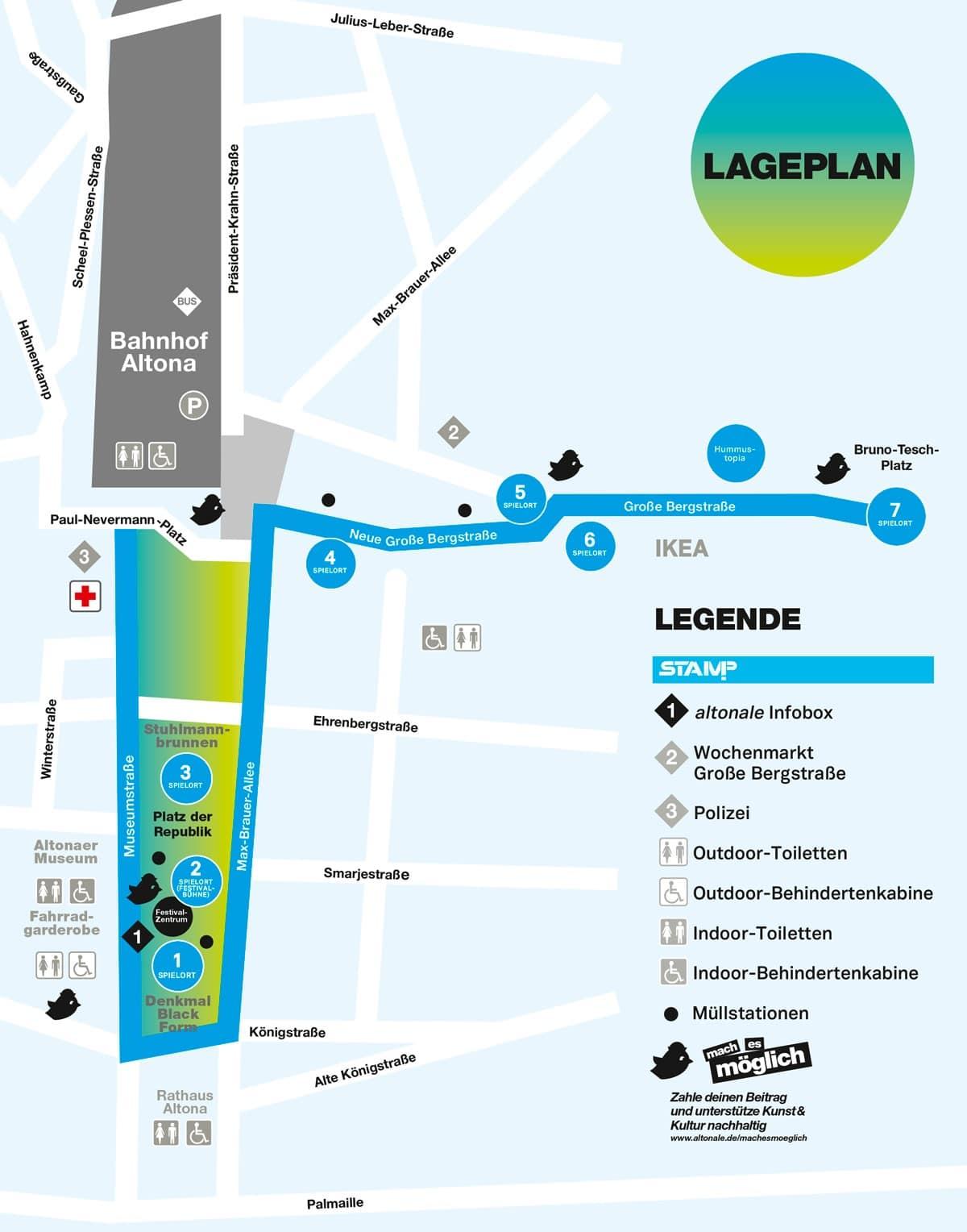 Lageplan STAMP-Festival