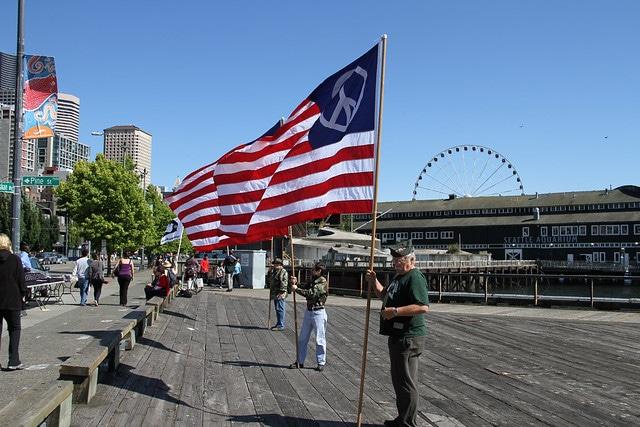 USA Banner in Seattle - Checkliste USA-reise