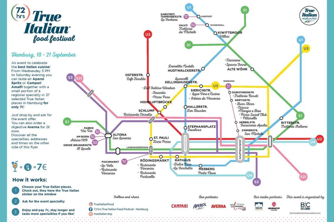Italian Food Festival: 72 Stunden Map Hamburg