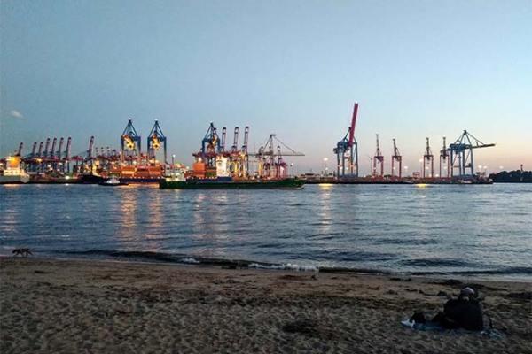 Umzug nach Hamburg: Hamburger Hafen - Elbufer