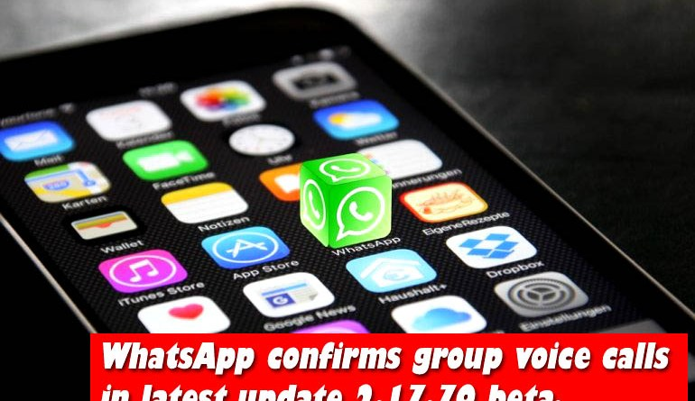 Whats app with group calls