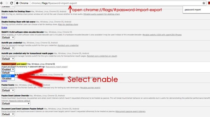 Export chrome passwords to PC