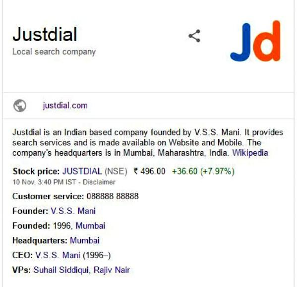 Google may acquire Just Dial,Mumbai