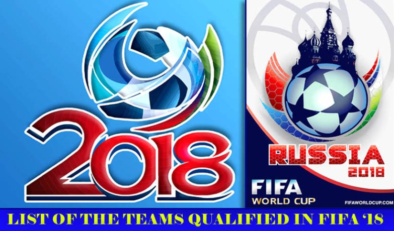 List of teams qualified in Fifa 2018