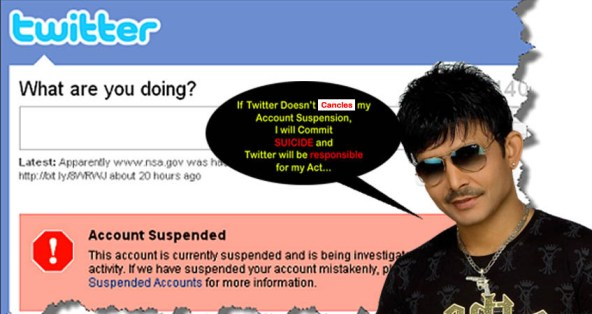 Twitter suspends KRK account: This is what KRK says will leave you stoned.
