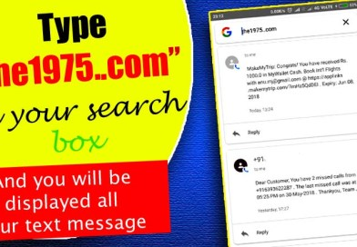 Bug on Android devices Typing 'the1975..com' shows personal text messages in Search