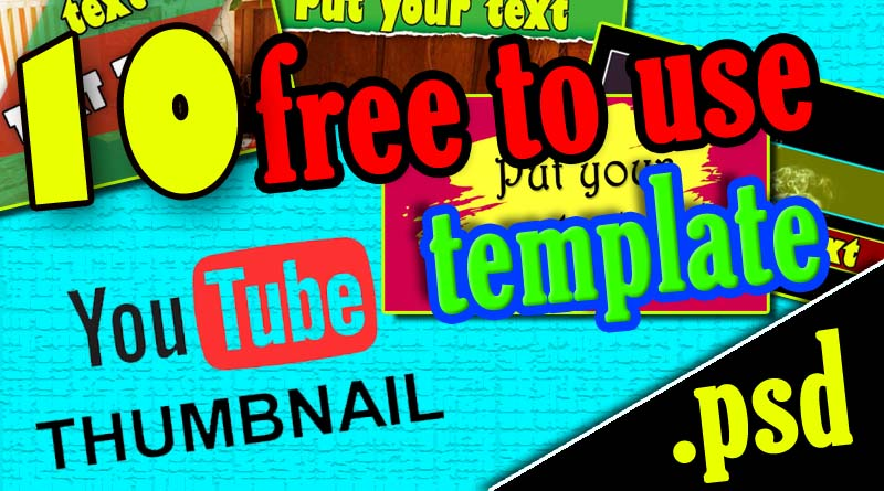 Download YouTube thumbnail template psd files Size and resolution of YouTube thumbnail Image