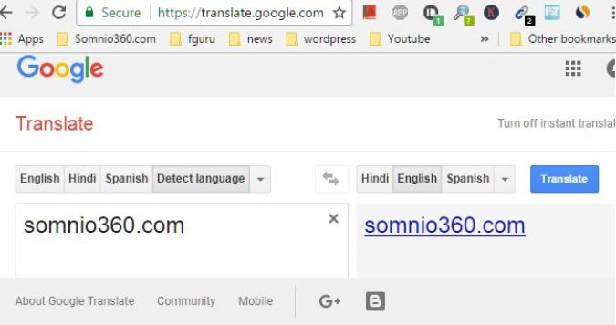 Using Google translate to access blocked website