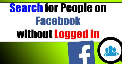 How To Perform Facebook Search For People without logging in